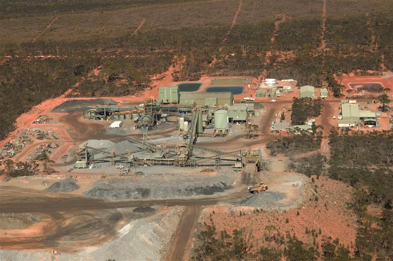 Aerial view of the Lake Johnston Nickel Mine